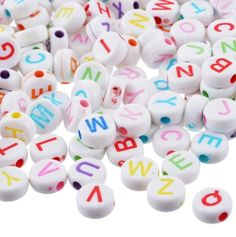 Perles lettres - perles chiffres - perles rondes - Diy