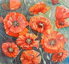 Christian Malto  Poppies art    http://christianmalto.blogspot.fr/