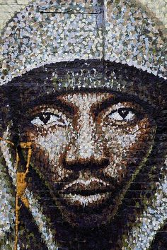 WOW!!! This is the first true piece of pointillism in street art that I have seen. Check it out. graffiti