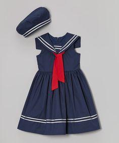 $24.99 Look what I found on #zulily! Navy Sailor Dress & Beret - Toddler & Girls by Jayne Copeland #zulilyfinds
