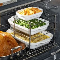 Multi-Tier Oven Rack! I want one! That would come in handy especially during the holiday season!