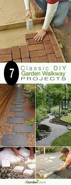7 Classic DIY Garden Walkway Projects With Tutorials! 7 Classic DIY Garden Walkway Projects With Tutorials! Diy Garden, Garden Paths, Lawn And Garden, Walkway Garden, Garden Care, Tyre Garden, Garden Seat, Backyard Projects, Outdoor Projects