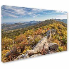 Trademark Fine Art Autumn Ridge Canvas Art by Pierre Leclerc, Size: 12 x 19, Multicolor