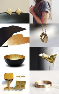 Gold Gifts by twomoons on Etsy--Pinned with TreasuryPin.com