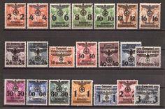 Generalgouvernement 1940 Michel-Nr.: 14-34 genel hükümet.almanyanın polonyayı işgali ile birlikte kullanılan pullar