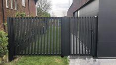 House Gate Design, Door Gate Design, Fence Design, Front Gates, Front Fence, Fence Gate, Small Garden Fence, Garden Gates, Backyard