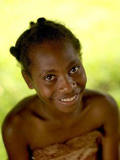 Girl form Santo island smiling, Vanuatu | Flickr - Photo Sharing!