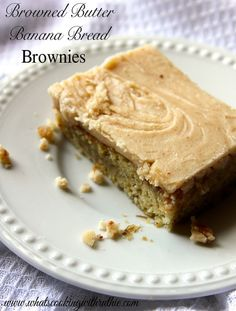 Browned Butter Banana Bread Brownies