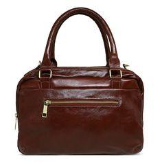 f6c9db61d A Bolsa Feminina de Couro Larissa - Pinhão é uma bolsa feminina fabricada em  couro legítimo