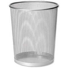 Mesh Waste Basket Silver - Made By Design, Medium Silver Office Bin, Office Organisation, Office Storage, Framed Burlap, Framed Chalkboard, Beauty Room Decor, Beach House Bedroom, Desk Tidy, Waste Disposal