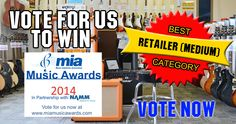 We've been nominated for BEST RETAILER (MEDIUM) CATEGORY in the MIA MUSIC AWARDS.  We'd love it if you could vote for us - http://miamusicawards.com/categories  Thank you #MIAAWARDS