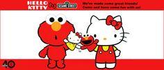 Hello Kitty & Elmo!
