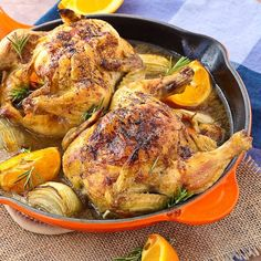 Cornish Game Hen Recipe with Sherry, Orange, and Rosemary This Cornish ...