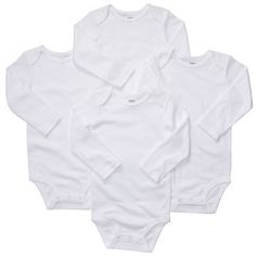 Carter's Onesies.  You can't ever have too many.  They wash up great and they fit true to size.  Buy some in every color and pattern.