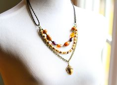 Earthy Acorn Necklace Woodland Necklace by MusingTreeStudios, $36.99 #jewelry #handmade #necklace #nature #acorn #boho #bohemian