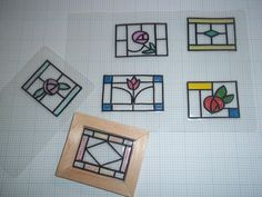 Hi all, I thought I would share with you a simple tutorial for making fake stained glass windows for your dolls house projects. As you can...