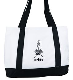 Hortense B. Hewitt Wedding Accessories White Canvas Tote Bag, Bride ** Be sure to check out this awesome product.