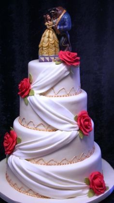 Melanie Ferris Cakes News » Beauty and the Beast Wedding Cake