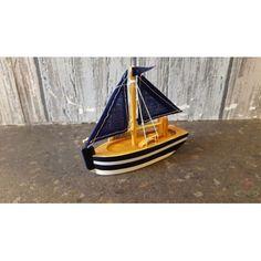 Maritiem Zeilboot 10 cm Blauw