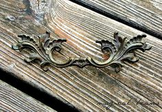 """Vintage French Provincial Dark Brass 5"""" Pulls by Keeler Brass Co available at www.MagicalBeansHome.com"""