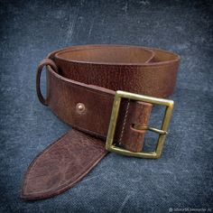 Пояса, ремни ручной работы. Ярмарка Мастеров - ручная работа. Купить Ремень кожаный, реплика, мод. Lend-Lease. Handmade.