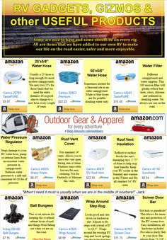Gadgets, Gizmos and other Useful Products for RVers to make our lives easier, safer and more enjoyable! If we don't own it and use it - we won't recommend it! Rv Organization, Van Living, Water Hose, Camping World, Hand Warmers, Our Life, Gadgets, Gypsy Wagon, Easy