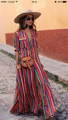 Colorful Fashion, Boho Fashion, Spring Fashion, Fashion Trends, Fashion  Outfits, Womens ef6d6e4d82b5