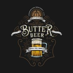 Harry Potter Beverages - Created by Barrett BiggersT-shirts on sale at his TeePublic shop this weekend starting at $14.