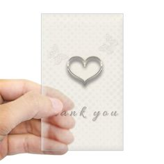 Chic Gold Heart Thank You Decal on CafePress.com
