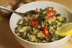 #Quinoa mit #Grünkohl und #Pilzen. #vegan #glutenfrei