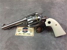 "This is an #unfired, new old stock Model 05130 #Ruger #Bisley #Vaquero in bright stainless steel, .357 Mag, 5.5"", Faux #Ivory factory grips. The #revolver was picked up from a recent estate as one of over a hundred such new condition items we are listing! The SN: 510-80xxx dates the revolver to 2009, and comes with the original factory box and papers! @Victory Gun & Guitar Works, LLC"