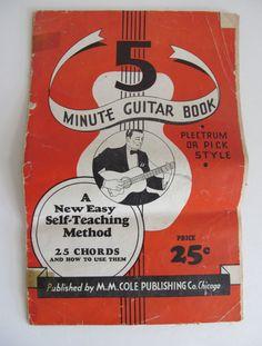 5 Minute Guitar Book Country Music Sheet Music Cowboy Music Songs  Self Teaching Guitar Lessons  1935    RL1500
