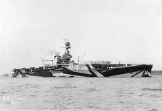 dazzle camouflage / HMS Furious, British aircraft carrier
