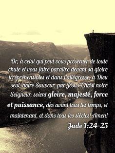 À Dieu soient gloire, majesté force et puissance | 1001 versets