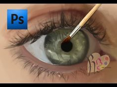Basic Photoshop Tutorials- Painting an Eye - YouTube Just wow....
