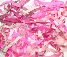 Grab Bag - Elastic Fold Over Pink Variety 2.5 ounce