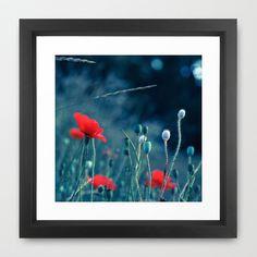 Red 2 Framed Art Print by Mareike Böhmer Photography - $37.00