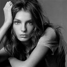 """Daria Werbowy """" Daria, The Face of Today """" by Steven Meisel Vogue Italia May 2004 Steven Meisel, Daria Werbowy, Leighton Meester, Model Headshots, Portrait Photography, Fashion Photography, White Photography, Tousled Hair, Jessica Biel"""