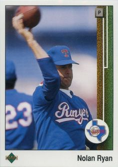 """1989 Upper Deck Nolan Ryan - Nolan pictured during one of the """"Tom House…"""