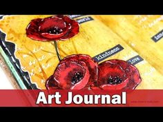 Step by step video on creating an art journal layout with poppies! BLOG POST: http://goo.gl/bHeh9E ✪ SUPPLIES ✪ • Dylusions SMALL CREATIVE JOURNAL —— http://...