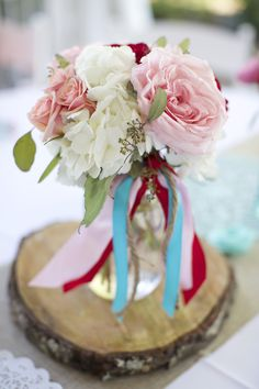 Garden Wedding | Country Valentine #centerpiece | Brooke Kelly Photography #cjsoffthesquare