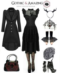Top Gothic Fashion Tips To Keep You In Style. As trends change, and you age, be willing to alter your style so that you can always look your best. Consistently using good gothic fashion sense can help Fashion Mode, Dark Fashion, Gothic Fashion, Love Fashion, Fashion Outfits, Fashion Tips, Alternative Outfits, Alternative Mode, Alternative Fashion