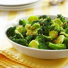 Barely-Blanched Broccoli Salad with Feta and Fried Almonds | Recipe ...