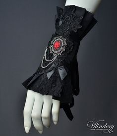 Gothic Jewelry Black Victorian Cuff with rose cameo and bow - Cute Dark Gothic Fashion, Elegant Goth, Dark Wedding Jewelry, Vampire Lolita Accessories - Lolita Fashion, Gothic Fashion, Victorian Fashion, Neo Victorian, Lolita Mode, Style Lolita, Gothic Mode, Gothic Lolita, Dark Gothic