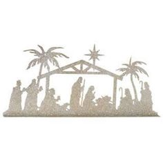 nativity idea, cut out of black paper, wrap around large pillar candle.