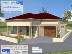 3d House Plans, 2 Bedroom House Plans, Garage House Plans, Village House Design, Village Houses, Beautiful House Plans, Beautiful Homes, Dream Homes, My Dream Home