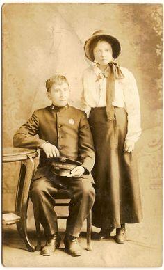 Salvation Army Couple Circa 1912