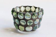 Pistachio Gems  Mosaic candle holder by Trencadis on Etsy, $15.00