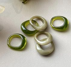 Jewelry Cute Jewelry Trendy 2021 Rings Resin Rings Statement Ring Gifts Vintage Resin Chunky Rings\u30c3