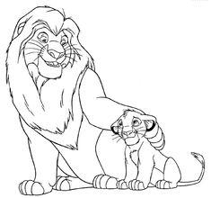 ausmalbilder könig der löwen
